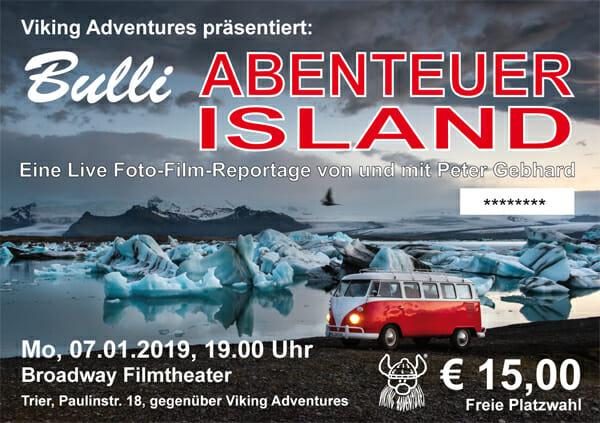 Vorverkauf Bulli-Abenteuer Island gestartet
