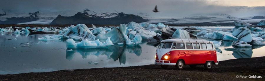 Bulli-Abenteuer Island: Live Foto-Film-Reportage von und mit Peter Gebhard