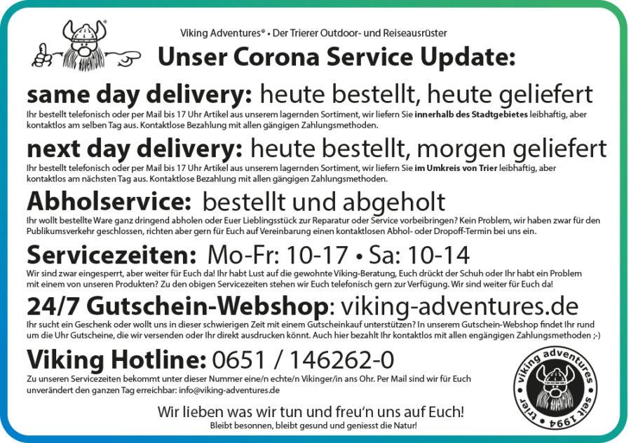 Corona Service Update
