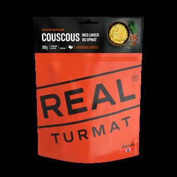 Couscous mit Linsen und Spinat